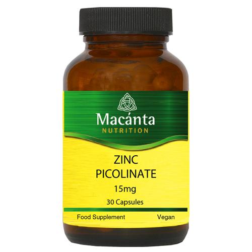 Zinc Picolinate 15mg | Macánta Nutrition