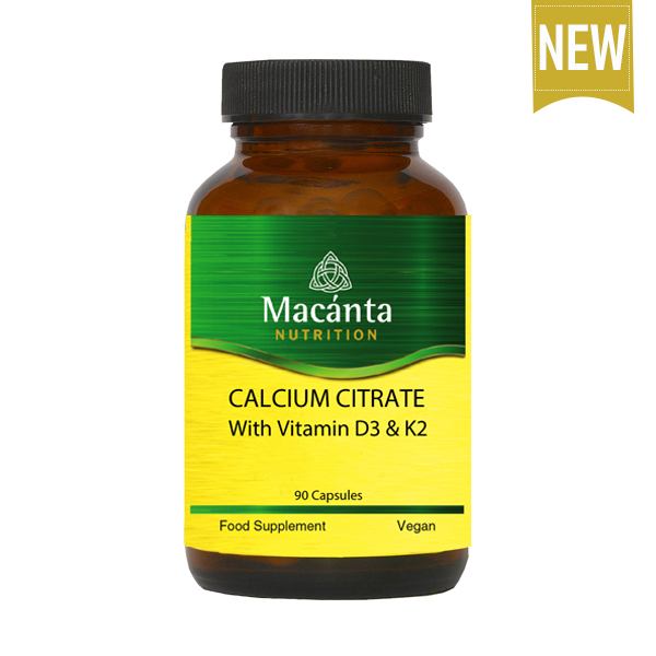 Calcium Citrate with Vitamin D3 and K2 | Macánta Nutrition