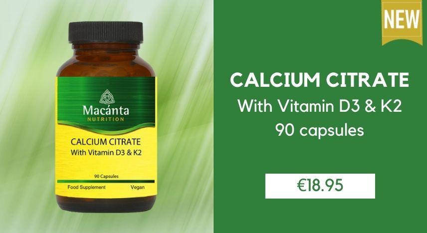 Calcium Citrate | Macánta Nutrition | Irish Made Supplements | Vitamins